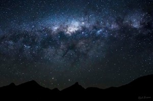 last nights galactic core over Wollumbin - by Rod Evans