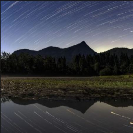 Mt Warning - star Trails - Ryan Fowler photography